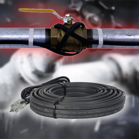 120V Pipe Self-Heating Cable w/ Glass Tape