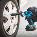 Using an impact wrench/driver with the Universal Joint Swivel Socket Adapter