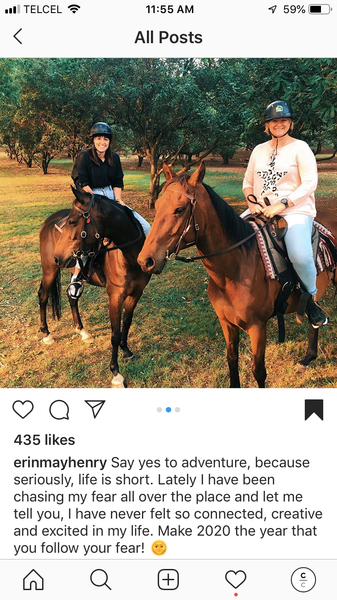 Instagram Post two females riding horses