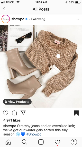 Instagram Post flaylay with boots, glasses and sweater