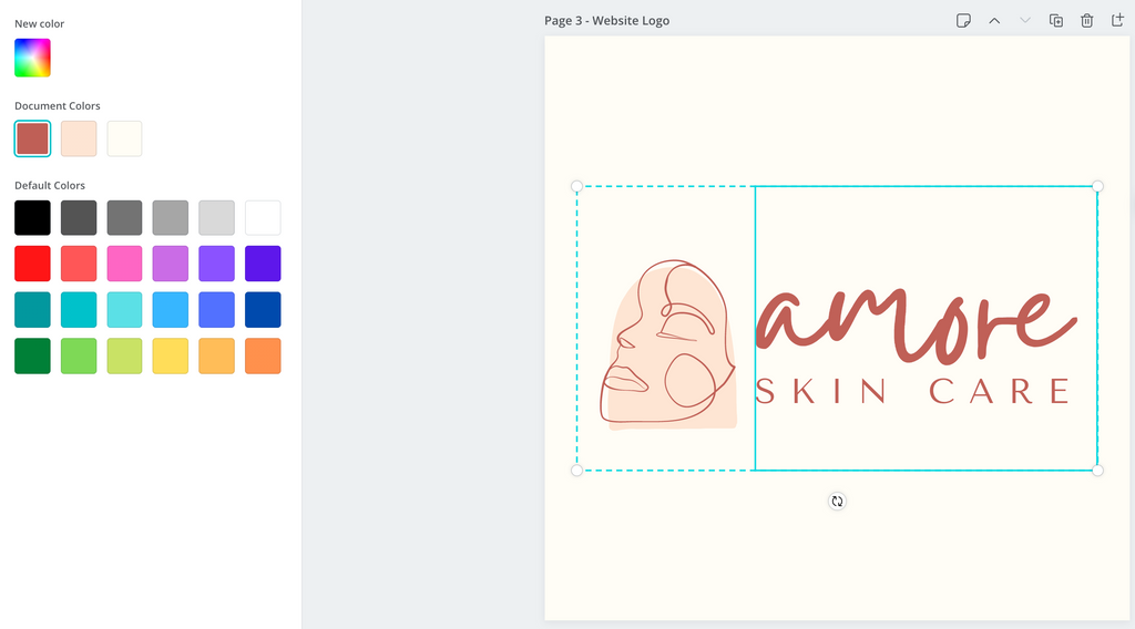 Canva editing Color of logo pack