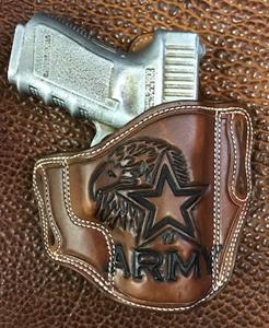Add Army Eagle & Star Carving To Your Holster