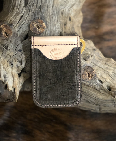 In-Stock Genuine African Hippo Cowboy Wallet- Dark Brown