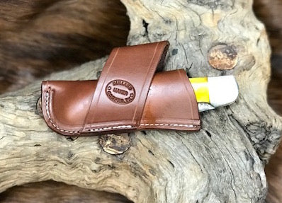 Crossdraw Knife Sheath for 2 Blade Folding Hunter