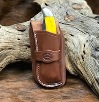 Cowboy Knife Sheath for 2 Blade Folding Hunter