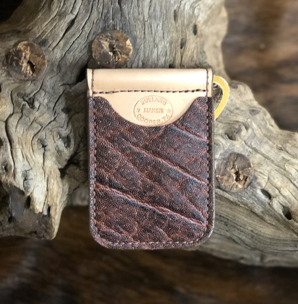 In-Stock Genuine African Elephant Cowboy Wallet- Vintage Rust