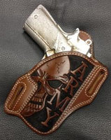 Add Skull & Army Carving To Your Holster
