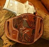Add Skull & Flames Carving To Your Holster
