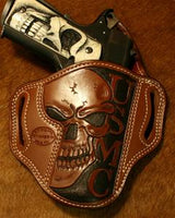 Add Skull with USMC Carving To Your Holster