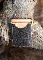 In-Stock Genuine African Elephant Cowboy Wallet- Vintage Bark