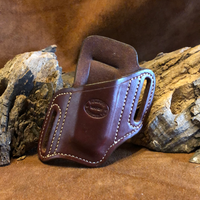 In-Stock High Ride Mag Holder for Kimber Micro 9- Saddle Brown