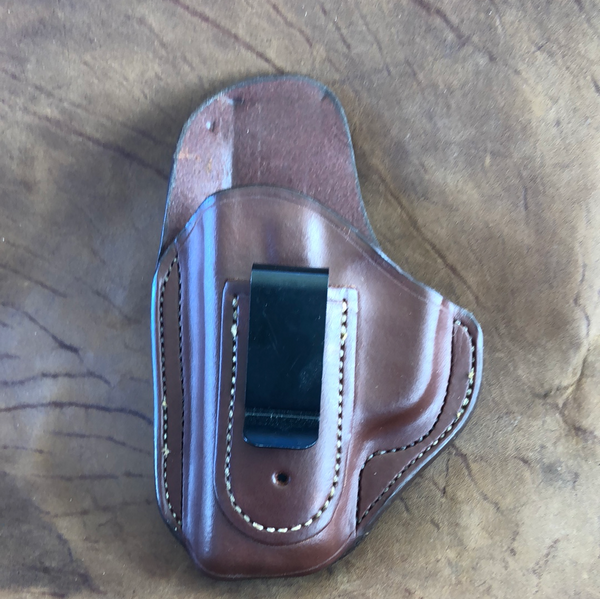 Azle IWB w/belt clip Holster for Kahr PM 45- (Saddle Brown)LH