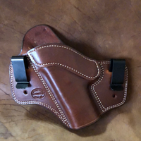 "Azle Dual Carry Holster for Springfield XDS 4""- (Saddle Brown) LH"