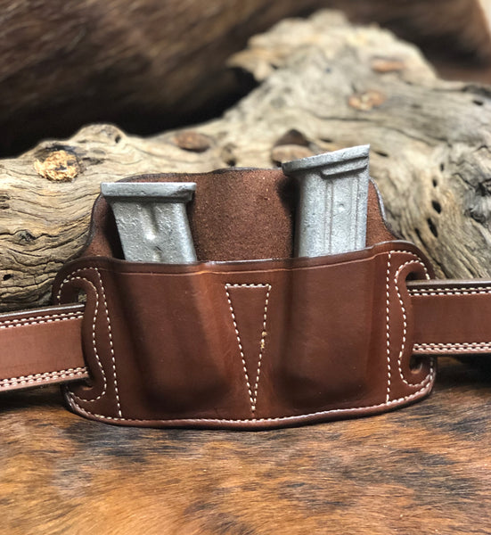 A CUSTOM FIT TO YOUR GUN-DOUBLE HIGH RIDE MAG HOLDER