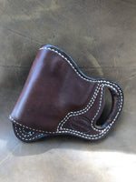 Azle Crossdraw Holster for S&W Bodyguard .380- Saddle Brown Left Hand