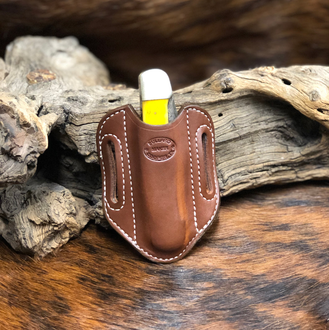 High Ride Knife Sheath for 2 Blade Large Folding Hunter