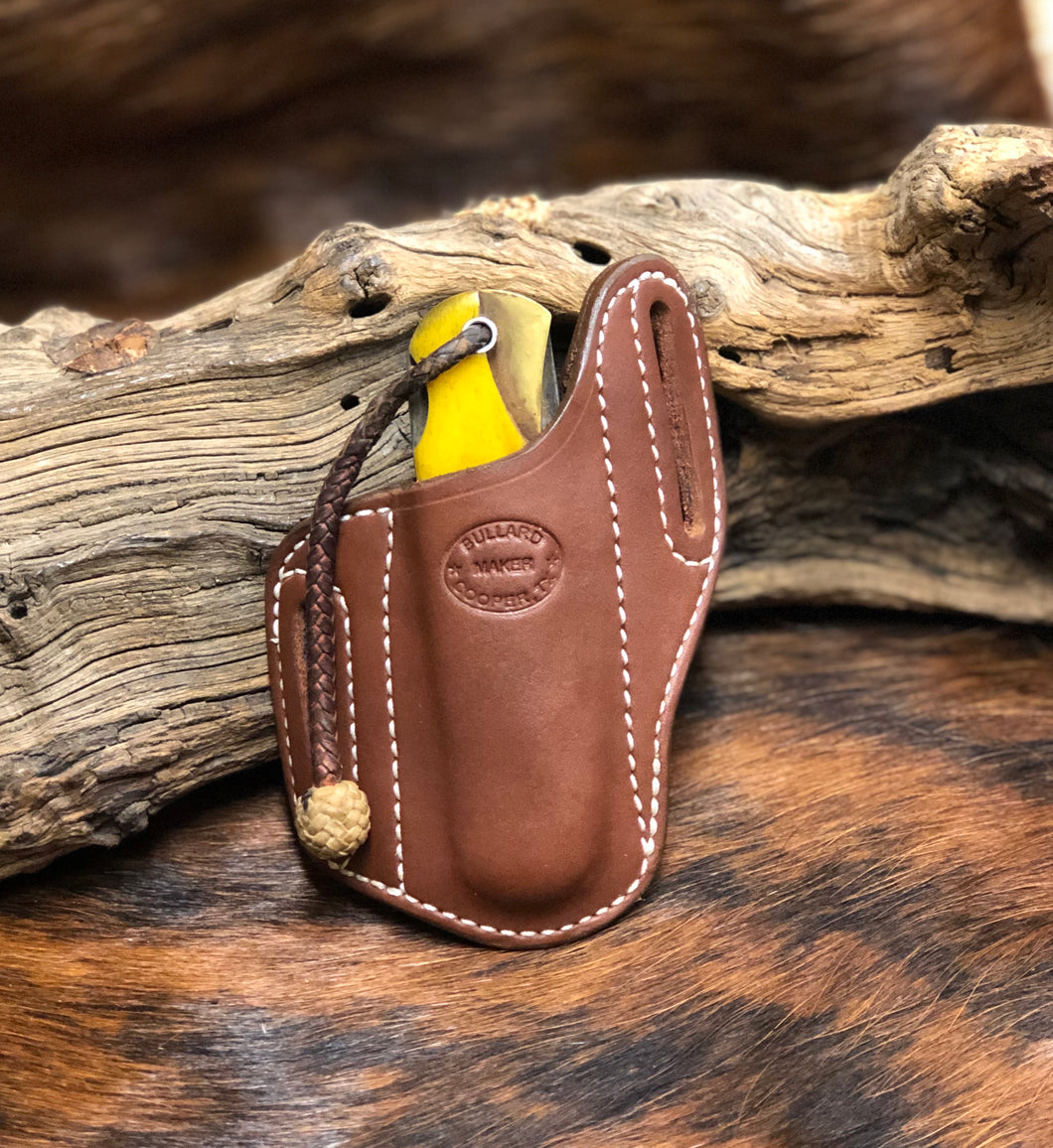Forward Slant Knife Sheath for 2 Blade Folding Hunter