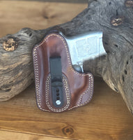 Azle Tuckable IWB Holster for S&W Bodyguard .380- Lined (Saddle Brown) LH