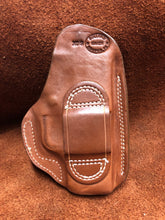 "Load image into Gallery viewer, Sale-OWB w/Belt Loop for Springfield XDS 3.3"" Saddle Brown ""We The People""Left Hand"