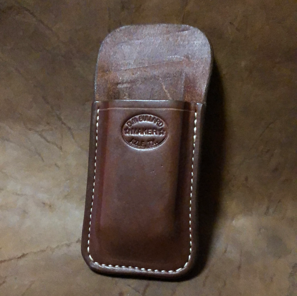 Azle Pocket Mag Holder for Smith & Wesson M&P Shield .45 Auto- Saddle Brown