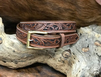 Add Floral Carving To Your Belt