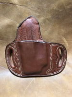 Azle Belt Slide Holster for S&W Bodyguard .380 w/ CT laser- Saddle Brown Left Hand