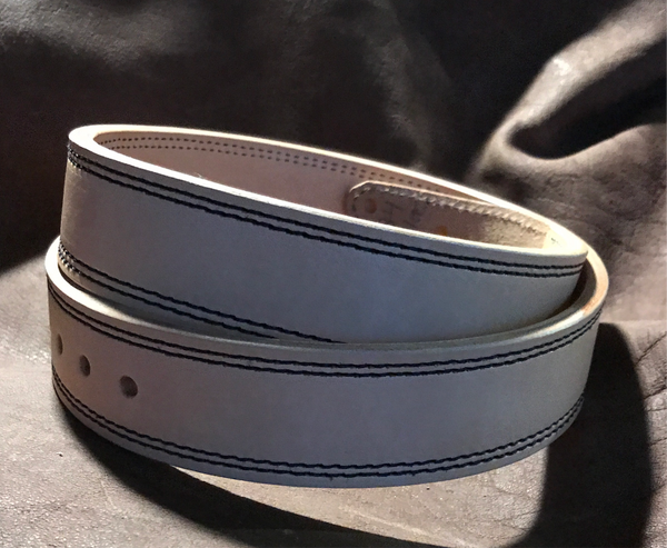 "In-Stock 1.5"" Carry Belt Size 33 Natural Brown Stitching"
