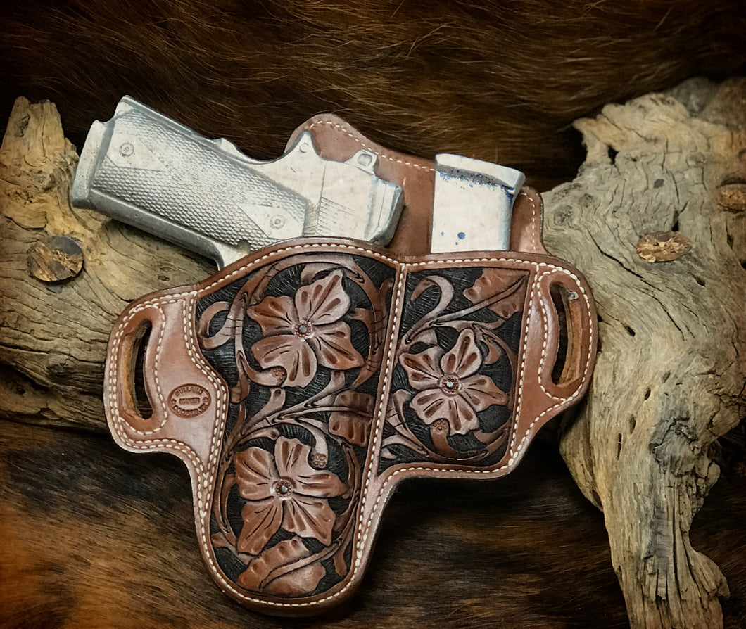 Add Floral Carving To Your Holster or Belt