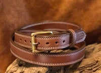"In-Stock 1.25"" Carry Belt Size 49- Saddle Brown"