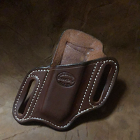 Azle Single Slant Mag Holder for Springfield XDS- (Standard Saddle Brown) Right Side