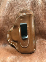 In-Stock IWB w/belt clip Holster for FNS 9C- (Saddle Brown) Right Hand