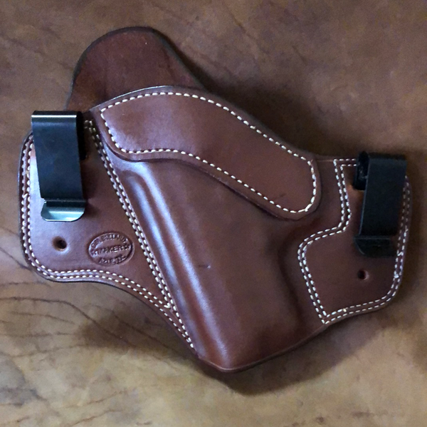 Azle Dual Carry Holster for Sig Sauer P229 Rail- (Saddle Brown) LH