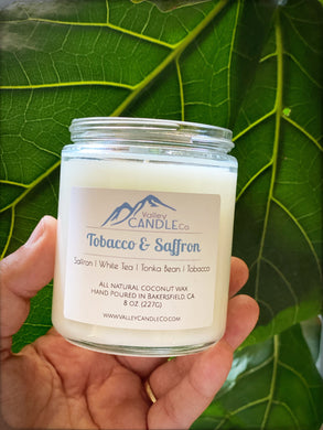 Tobacco & Saffron | Coconut Wax Candle | 8oz
