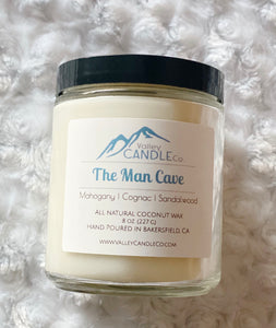 The Man Cave | Mahogany Woods| Coconut Wax Candle | 8 oz
