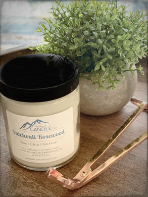 Patchouli Rosewood | 8 oz Coconut wax candle