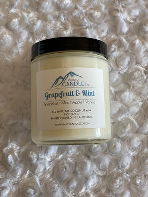 Grapefruit & Mint | Coconut Wax Candle | 8 oz