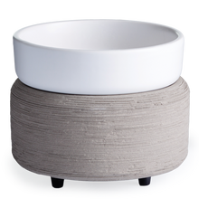 Load image into Gallery viewer, White-n-Concrete| Matte white and concrete | Wax Warmer | Wax Melter