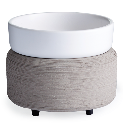 White-n-Concrete| Matte white and concrete | Wax Warmer | Wax Melter