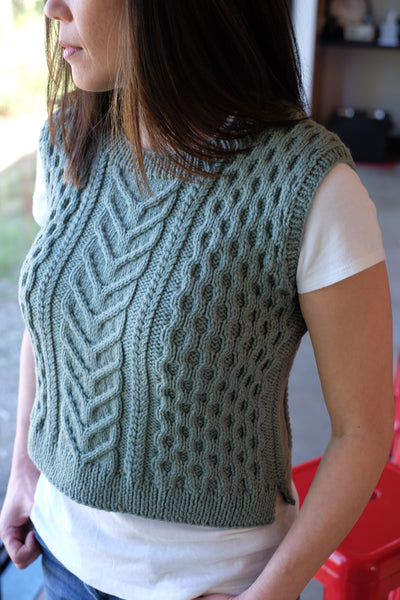 f3d458b39285b The Stillwater vest is our knit pattern that was designed for us by our  dear friend
