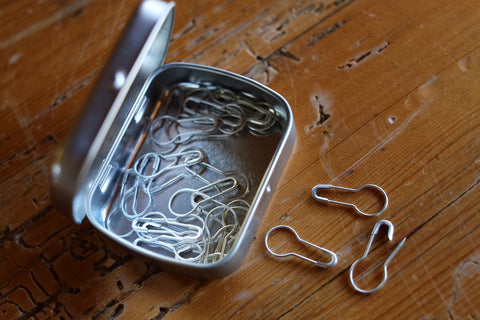 Tolt Locking Stitch Markers - Silver