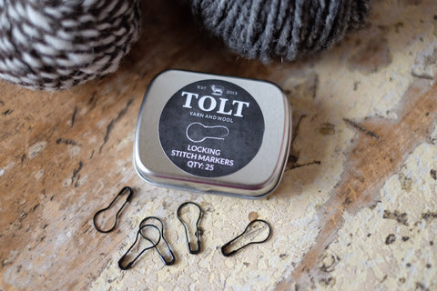 Tolt Locking Stitch Markers - Black