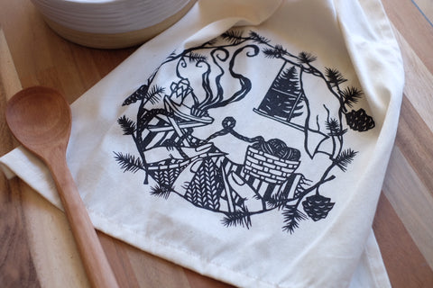 A Sense of Place Paper Cut Tea Towel