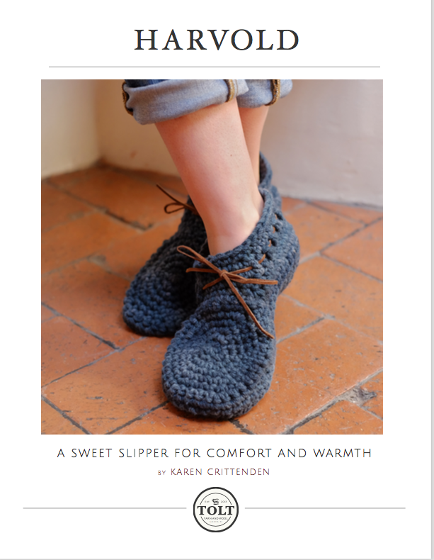 Tolt, Harvold Slipper Pattern, PDF Download