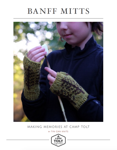 Camp Tolt, Banff Mitts Pattern, PDF Download