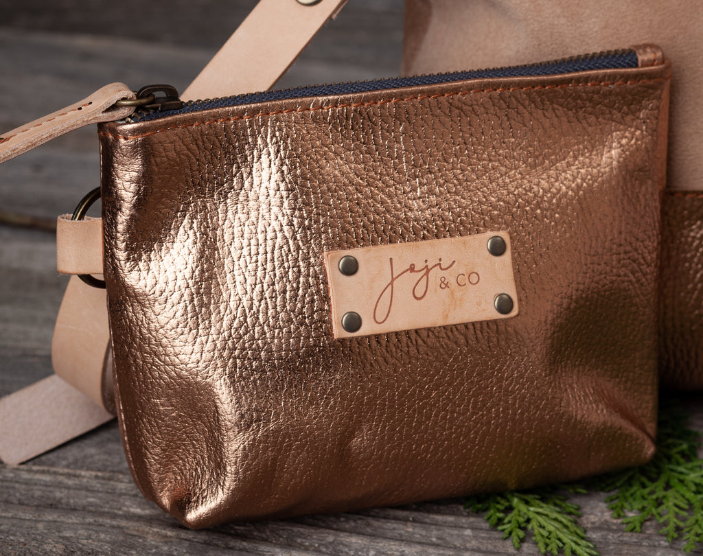Joji & Co., Metallic EPA Pouch