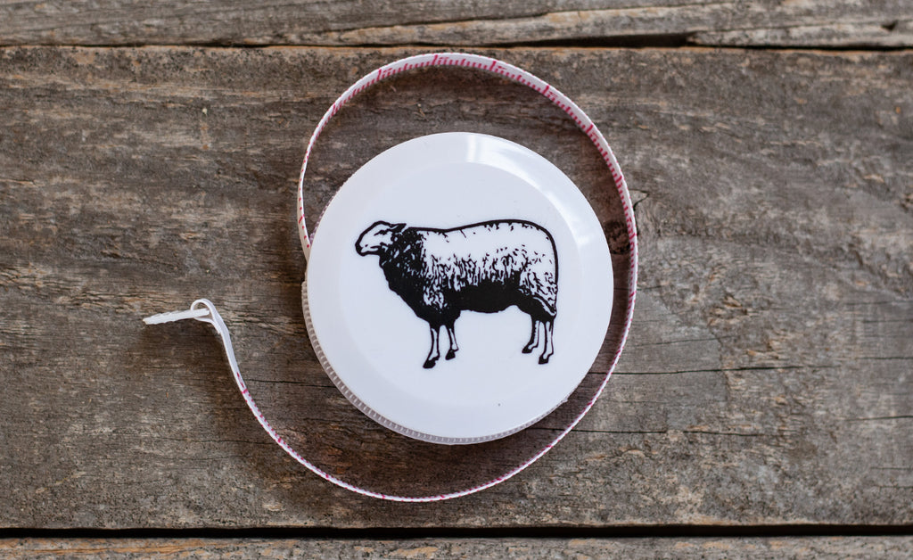 Tolt Tape Measure, White with Black Sheep