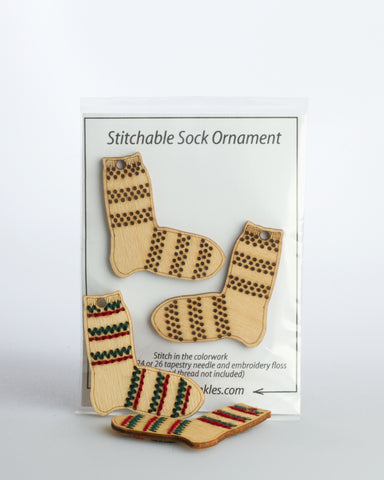 Katrinkles, Striped Sock Ornaments