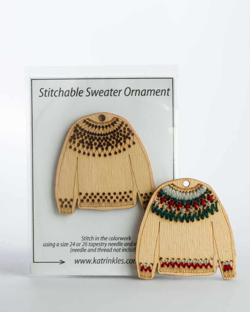 Katrinkles, Stitchable Sweater Ornament - Fair Isle
