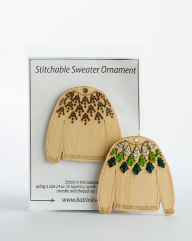 Stitchable Skógafjall Sweater Ornament