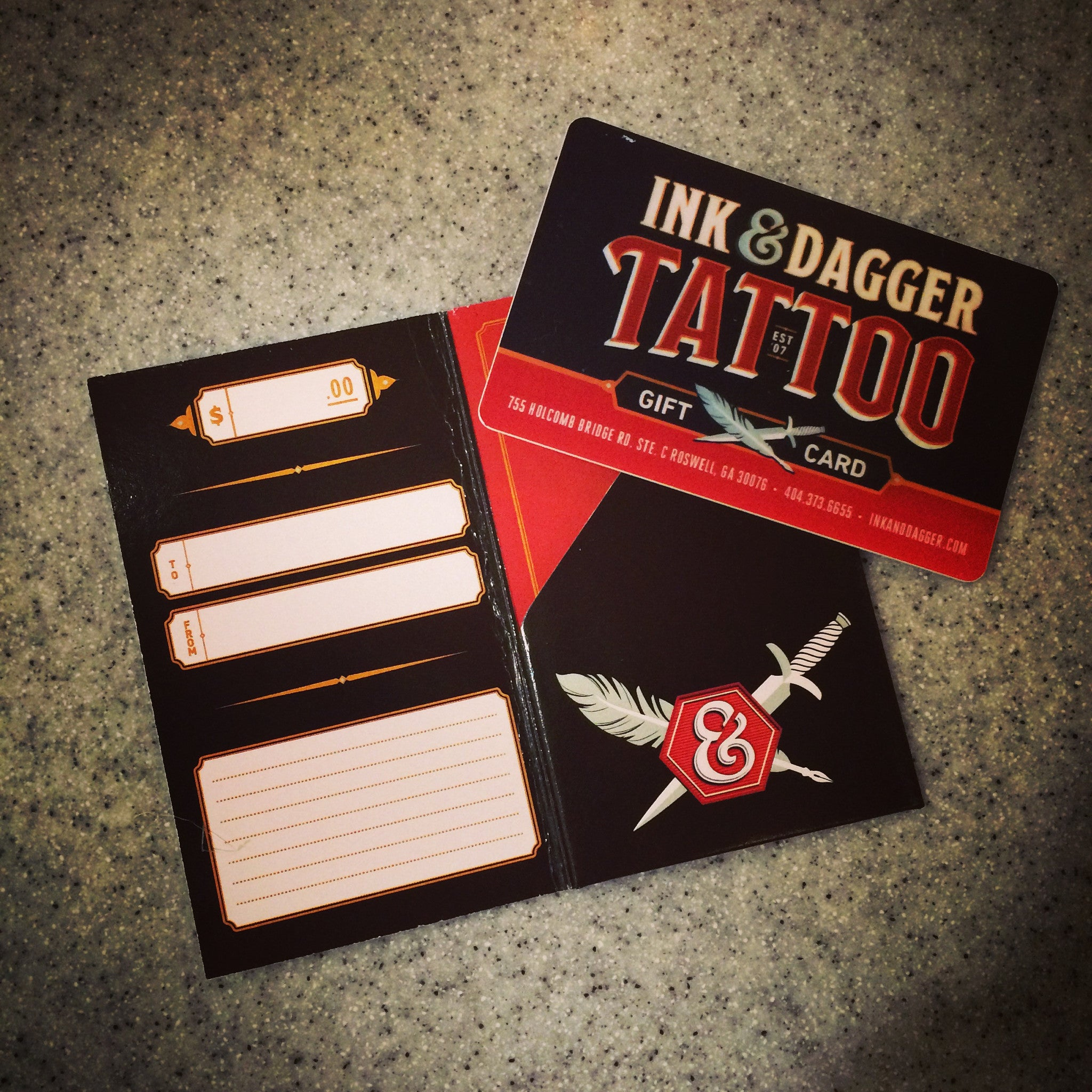 Ink dagger tattoo gift card ink dagger tattoo store xflitez Image collections